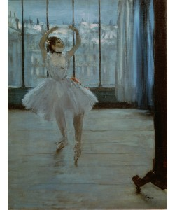Edgar Degas, Dancer in Front of a Window (Dancer at the Photographer's Studio) c.1874-77 (oil on canvas)