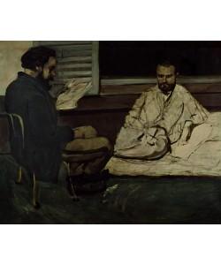 Paul Cézanne, Paul Alexis (1847-1901) Reading a Manuscript to Emile Zola (1840-1902) 1869-70 (oil on canvas)
