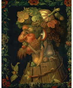 Giuseppe Arcimboldo, Autumn, from a series depicting the four seasons, commissioned by Emperor Maximilian II (1527-76) 1573 (oil on canvas)