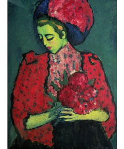 Alexej von Jawlensky, Young Girl with Peonies, 1909 (oil on canvas)