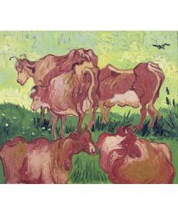 Vincent van Gogh, Cows, 1890 (oil on canvas)