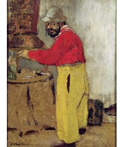 Edouard Vuillard, Henri de Toulouse-Lautrec at Villeneuve sur Yonne, 1898 (oil on canvas)