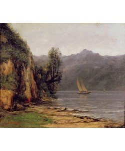 Gustave Courbet, View of Leman Lake, c.1873-77 (oil on canvas)