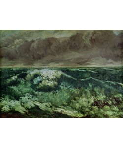 Gustave Courbet, The Wave, after 1870 (oil on canvas)