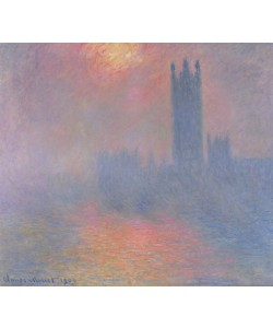 Claude Monet, The Houses of Parliament, London, with the sun breaking through the fog, 1904 (oil on canvas)