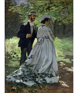 Claude Monet, The Promenaders, or Claude Monet Bazille and Camille, 1865 (oil on canvas)
