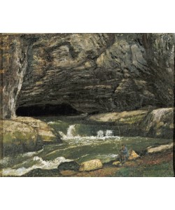 Gustave Courbet, The Source of the Loue or La Grotte Sarrazine (oil on canvas)