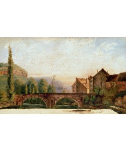 Gustave Courbet, The Pont de Nahin at Ornans, c.1837 (oil on canvas)