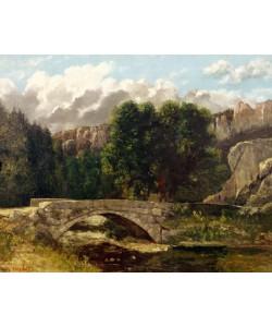 Gustave Courbet, The Pont de Fleurie, Switzerland, 1873 (oil on canvas)