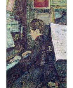Henri de Toulouse-Lautrec, Mademoiselle Dihau (1843-1935) at the Piano, 1890 (oil on canvas)