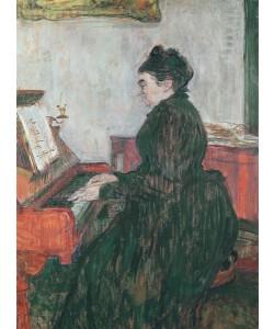 Henri de Toulouse-Lautrec, Madame Pascal at the piano in the salon of the Chateau de Malrome, 1895 (oil on canvas)