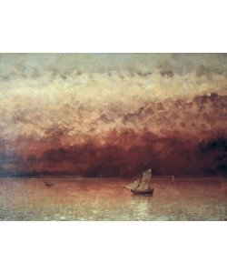 Gustave Courbet, Lake Leman with Setting Sun, c.1876 (oil on canvas)