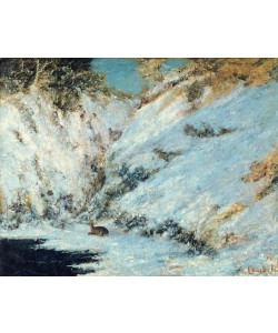 Gustave Courbet, Snowy Landscape, 1866 (oil on canvas)