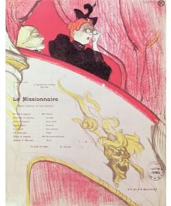 Henri de Toulouse-Lautrec, Cover of a programme for 'Le Missionaire' at the Theatre Libre, 1893-94 (colour litho) (see also 202671)