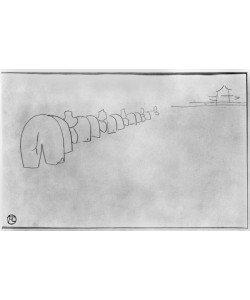 Henri de Toulouse-Lautrec, Theory of Elephants, 1896 (pencil on paper) (b/w photo)