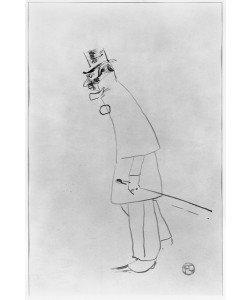 Henri de Toulouse-Lautrec, A House Doctor, Gabriel Tapie de Celeyran (1869-1930) 1894 (pen & ink on paper) (b/w photo)
