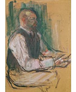 Henri de Toulouse-Lautrec, Professor Robert Wurz (1858-1919) 1901 (oil on card)