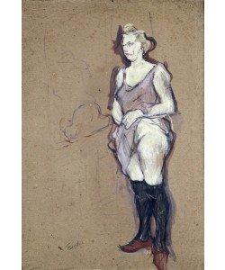 Henri de Toulouse-Lautrec, The Medical Inspection: Blonde Prostitute, 1894 (oil on card)