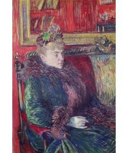 Henri de Toulouse-Lautrec, Madame de Gortzikoff, 1893 (oil on canvas)