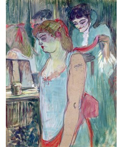 Henri de Toulouse-Lautrec, The Tattooed Woman or The Toilet, 1894 (oil on card)
