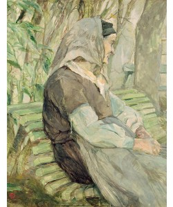 Henri de Toulouse-Lautrec, Old Woman Seated on a Bench in Celeyran, 1882 (oil on canvas)