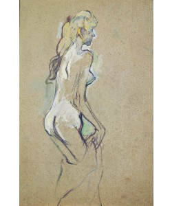 Henri de Toulouse-Lautrec, Nude Young Girl, 1893 (oil on card)