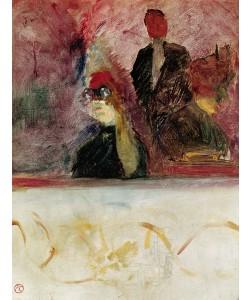 Henri de Toulouse-Lautrec, The Box at the Mascaron Dore, 1893 (oil on canvas)