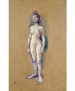 Henri de Toulouse-Lautrec, Standing Female Nude, 1898 (oil on card)