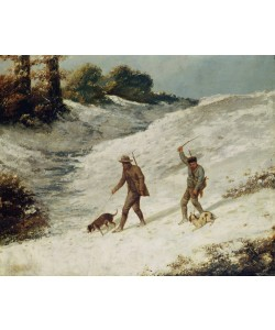 Gustave Courbet, Hunters in the Snow or The Poachers (oil on canvas)