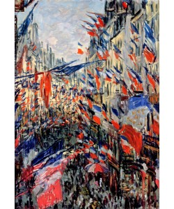 Claude Monet, The Rue Saint-Denis, Celebration of June 30, 1878 (oil on canvas)