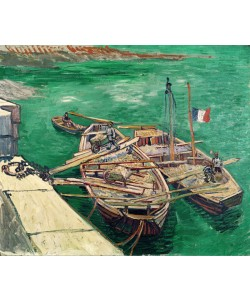 Vincent van Gogh, Landing Stage with Boats, 1888 (oil on canvas)
