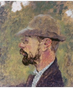 Edouard Vuillard, Portrait of Henri de Toulouse-Lautrec (1864-1901) c.1897-98 (oil on canvas)