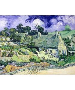 Vincent van Gogh, Thatched cottages at Cordeville, Auvers-sur-Oise, 1890 (oil on canvas)
