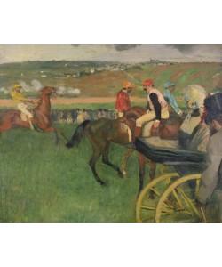 Edgar Degas, The Race Course - Amateur Jockeys near a Carriage, c.1876-87 (oil on canvas)