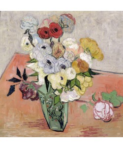 Vincent van Gogh, Japanese Vase with Roses and Anemones, 1890 (oil on canvas)