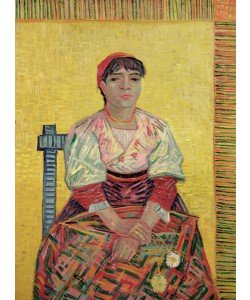 Vincent van Gogh, The Italian: Agostina Segatori, 1887 (oil on canvas)