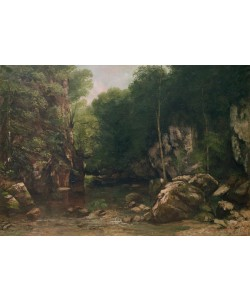 Gustave Courbet, The Covered Stream, or The Dark Stream, 1865 (oil on canvas)