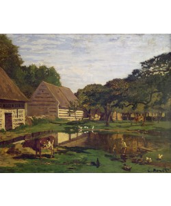 Claude Monet, A Farmyard in Normandy, c.1863 (oil on canvas)