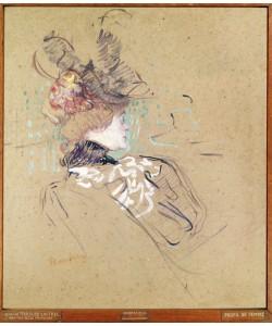 Henri de Toulouse-Lautrec, Profile of a woman, 1896 (oil on card)