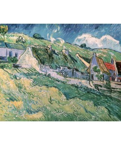 Vincent van Gogh, Cottages at Auvers-sur-Oise, 1890 (oil on canvas)