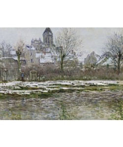 Claude Monet, The Church at Vetheuil under Snow, 1878-79 (oil on canvas)