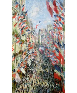 Claude Monet, The Rue Montorgueil, Paris, Celebration of June 30, 1878 (oil on canvas)