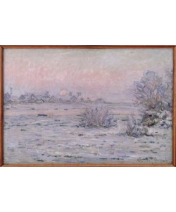Claude Monet, Snowy Landscape at Twilight, 1879-80 (oil on canvas)