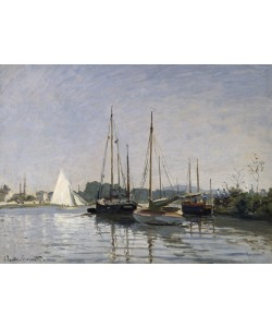 Claude Monet, Pleasure Boats, Argenteuil, c.1872-3 (oil on canvas)
