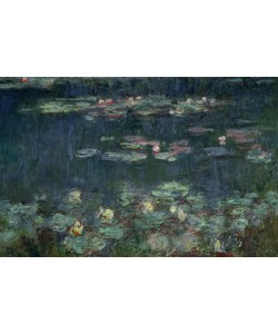 Claude Monet, Waterlilies: Green Reflections, 1914-18 (right section) (oil on canvas) (see also 70302 & 56004)
