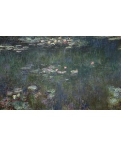 Claude Monet, Waterlilies: Green Reflections, 1914-18 (central section) (oil on canvas) (see also 70302 & 56001)