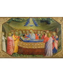 Fra Angelico, Funeral of the Virgin Mary from the predella of the Annunciation Altarpiece, c.1430-32 (tempera & gold on panel)