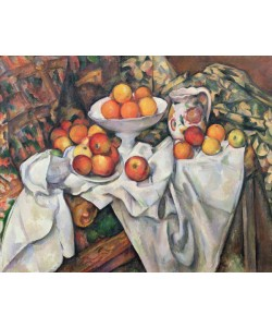 Paul Cézanne, Apples and Oranges, 1895-1900 (oil on canvas)