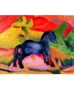 Franz Marc, Little Blue Horse, 1912 (oil on canvas)
