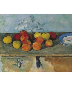 Paul Cézanne, Still life of apples and biscuits, 1880-82 (oil on canvas)